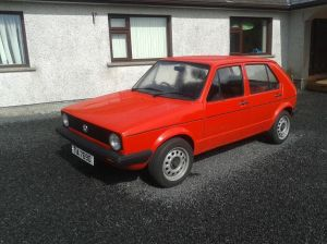 Red diesel mark 1 Golf