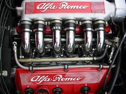 Alfa Romeo chrome polished engine