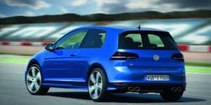 Blue VW Golf R
