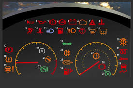 Dashboard of typical car