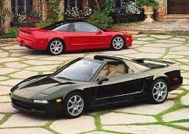 Red and black Honda NSXs