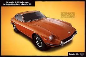 Original Nissan 240Z advertisement