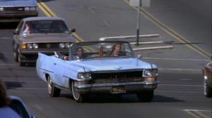 Sky blue Cadillac Deville 1964