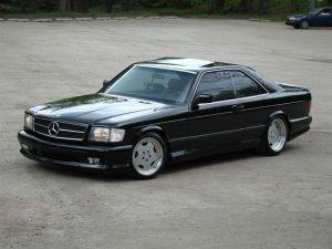 Black Mercedes Benz SEC