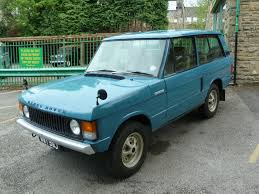 Blue 3 door Range Rover