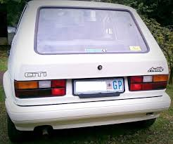 rear of white mark 1 vilkswagen golf