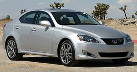 Silver Lexus IS