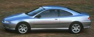 Silver Peugeot 406 Coupe