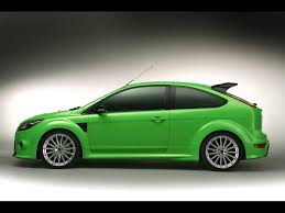 Frozen Green Ford Focus RS