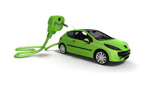 Picture of Green Electric Car